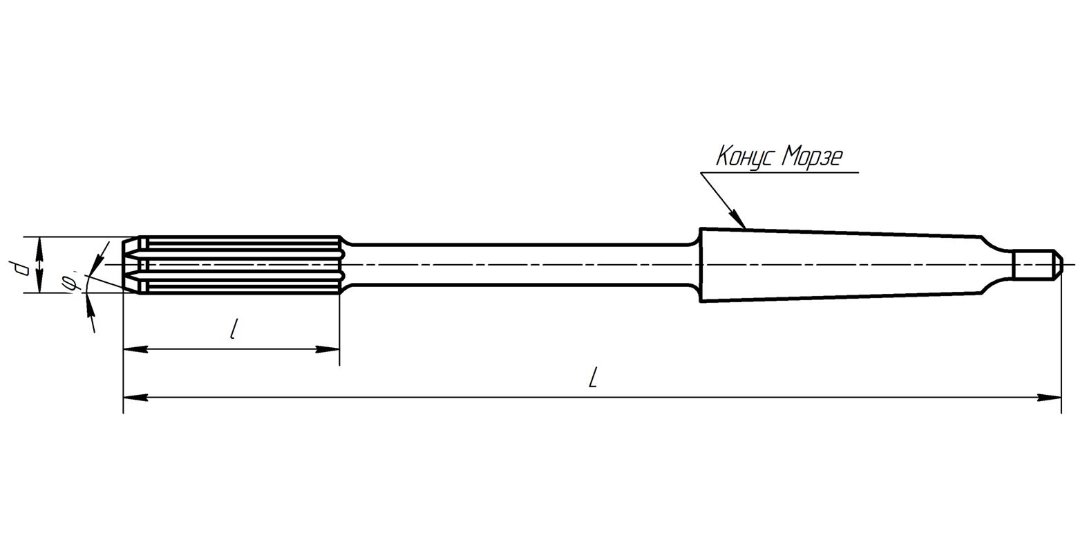 развертка машинная конический хвостовик ф40